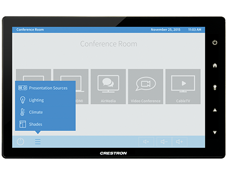 crestron shade control commercial touchpanel