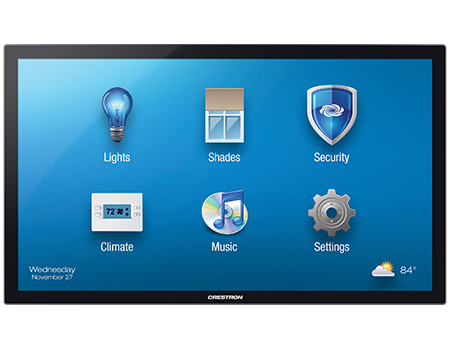 crestron touchpanel shade control
